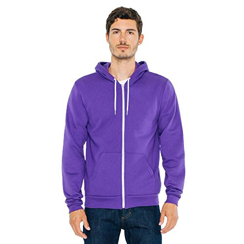 American Apparel - Unisex Flex Fleece Zip Hoodie Purple