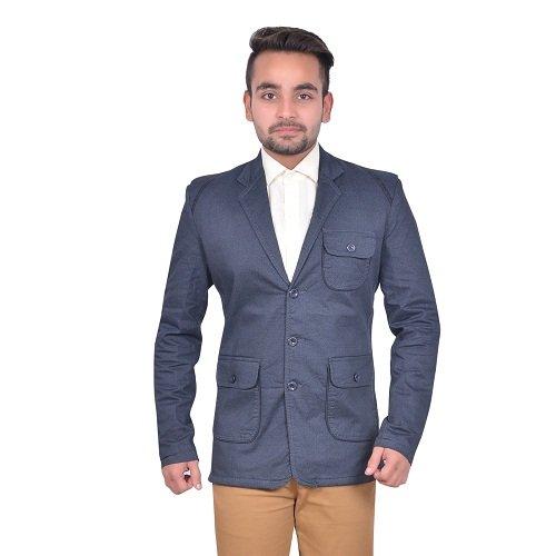 GDS Blue Soft Cotton Party Wear Blazers For Men