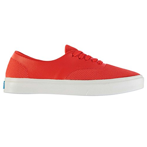 Unknown Hommes The Stanley Chaussures Baskets Basses Plimsoles Tennis Casual Rouge