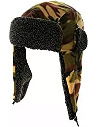 MENS Boys CAMOFLAUGE KNITTED SKI TRAPPER hat A688