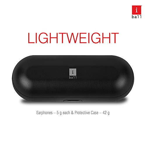 iBall EarWear TW10 in-Ear Bluetooth Wireless Headphones with Protective Charging Case, Black Image 6