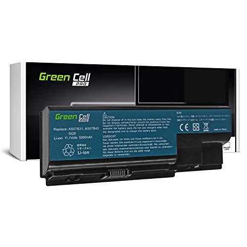 GC® PRO Serie Laptop Akku für Acer Aspire 7736ZG-444G32MN 7736ZG-454G32MN 7736ZG-454G50MNBK (Samsung SDI Zellen 5200mAh 11.1V Schwarz)