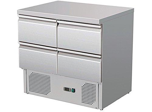 Über Vier Schubladen (Zorro - Kühltisch ZS 901 4D - 4 Schubladen - Gastro Saladette mit Arbeitsfläche - R600A - Digitales Thermostat)