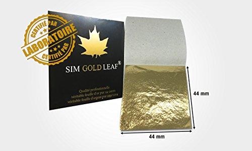 20Blatt Goldene reinem 24kt Lebensmittel Essbar Für zum Backen, Dekoration de Luxe, Gesicht SPA (44x 44mm) Gesichts-spa Luxe