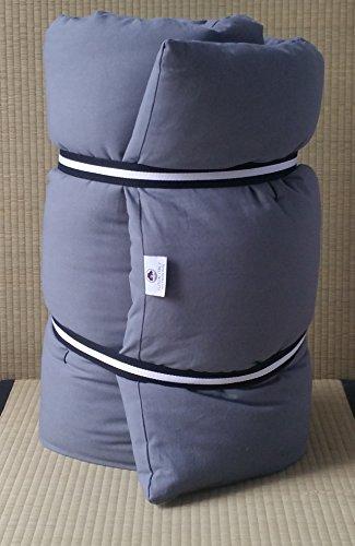 Futon tragbar Reise Farbe Pink, Stoff classe2b, aus reiner Baumwolle–Größe 65x 185cm, Dicke 4cm–mit Massage, für Yoga,...