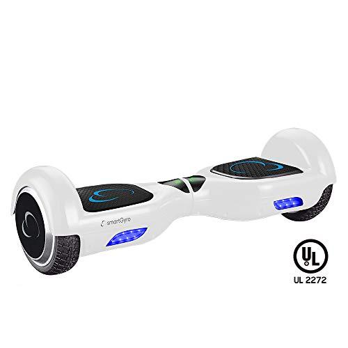 SmartGyro X2 UL v.3.0 White - Potente Patinete Eléctrico Hoverboard, Ruedas de 6.5' Antipinchazos,...