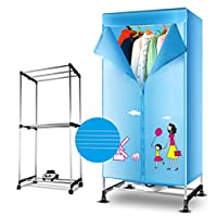 Household Dryer Double-layer Large Capacity Stainless Steel Dry Hanger, 900W Warm Air Dry Wardrobe (Color : Plus towel rack)