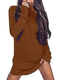 Alessioy Donna Maglione Collo Alto Caldo Termico Invernali Pullover Casual  Maglioni Jumper A Collo Alto Maglieria 123005db290