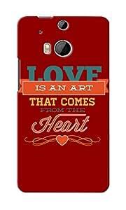 KnapCase Love Art Designer 3D Printed Case Cover For HTC One M8