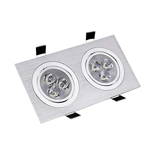 Foco Downlight LED Direccionable Rectangular 2x3x1W Blanco Frío 6000K-6500K