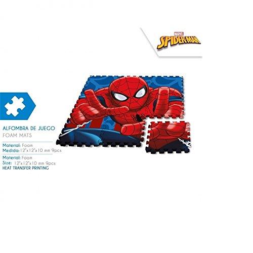 Alfombra puzzle de juego goma eva spiderman 90x90 cm
