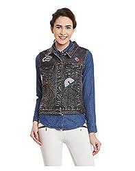 Yepme Womens Black Cotton Jackets - YPWJACKT00051_L
