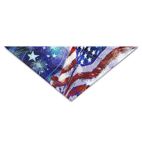 Gxdchfj Cotton Happy 4th July USA Flags.jpg Triangle Pet Scarf Dog Bandana Pet Collars Dog Cat - Birthday