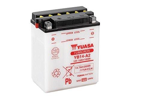 Batterie YUASA YB14-A2, 12V/14AH (Maße: 136x91x168) für Arctic Cat TBX 4x4 500 Baujahr 2010 12v 14ah Batterie