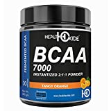 HealthOxide BCAA 7000 Amino Acid INSTANTIZED 2:1:1 POWDER - 300 gm (ORANGE)