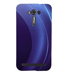 PrintVisa Blue Pattern 3D Hard Polycarbonate Designer Back Case Cover for Asus Zenfone 2 Laser ZE550KL