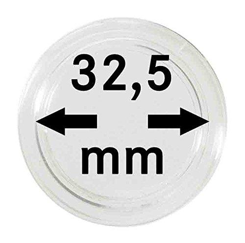 LINDNER Das Original Münzkapseln Innen-Ø 32,5 mm, 10er-Packung, z.B. für deutsche 20 Euro-/10 Euro-Silbermünzen