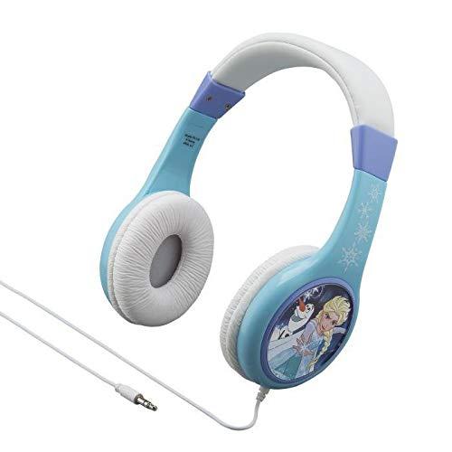ekids FR-136 Disney Frozen Kopfhörer mit Lautstärkebegrenzung größenverstellbar Eiskönigin Anna und ELSA Blau
