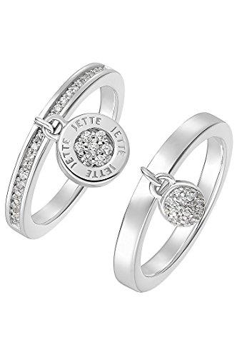 JETTE Silver Damen-Ring 925er Silber 70 Zirkonia silber, 61 (19.4)