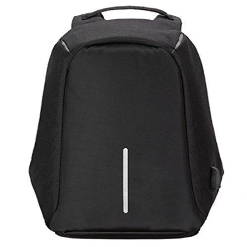 VIVOSUN Rucksack Laptop Pad Wasserdicht Anti Diebstahl Business USB Ladeanschluss Daypack für Damen Herrn Studenten Schwarz