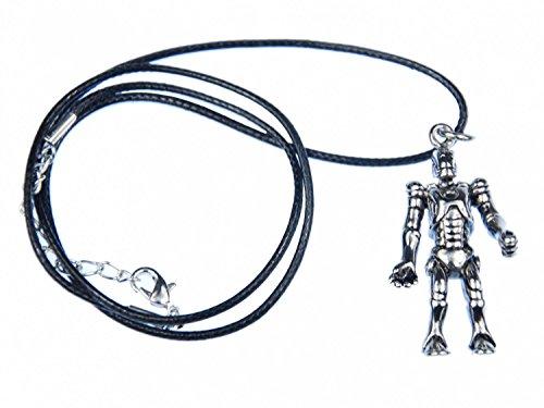 Miniblings Exoskelett Roboter Kette Halskette Maschine Textilband Cyber Android