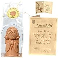 Bartl - Angioletto custode in piedi, da 5 cm, pezzo unico realizzato a mano, in (20 Mm Ceramica)