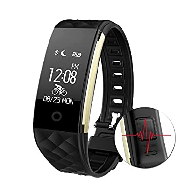 Fitness Tracker Heart Rate Monitor Activity Health Tracker Waterproof Smart Wristband Band with Pedometer Sleep Monitor Step Calorie Counter Bluetooth Bracelet for Swimming Bicycling by AGPtEK