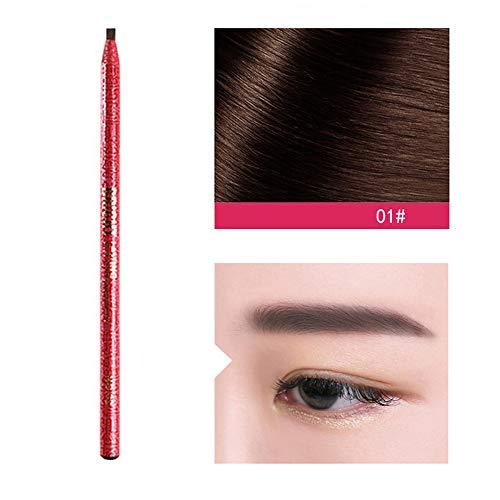 Berrose-Bleibend Draht ziehen Augenbrauenstift Wasserdichter Augenbraue-Schwarzbrauner Augenbraue-Stift-Bleistift mit Pinsel-Make-upkosmetik