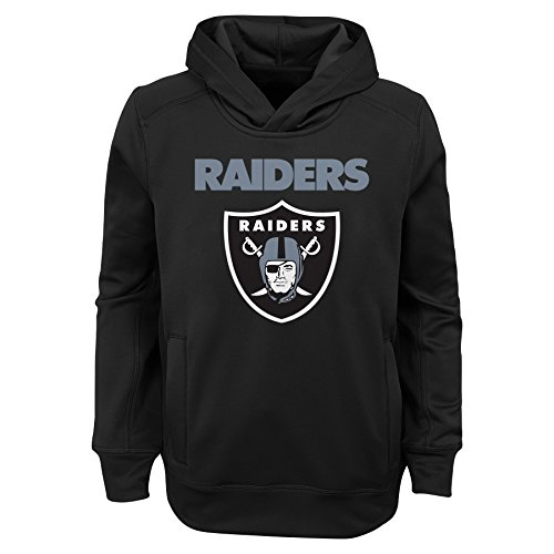 NFL Oakland Raiders Jungen Youth Ziel Line Ständer Performance Fleece Hoodie, Jungen, 9K1B7FA5JAX9 RAI B01-BXL20, Schwarz, XL Performance-fleece