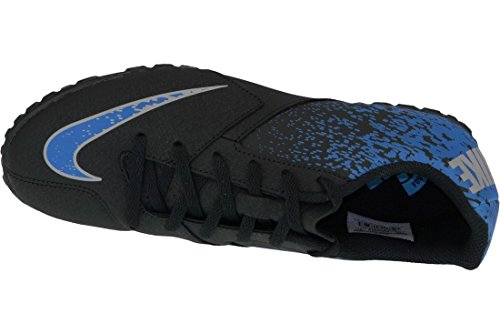 Nike Jr Bombax Tf, Chaussures de Football Garçon Multicolore - Negro / Azul / Gris (Black / Photo Blue-Wolf Grey)