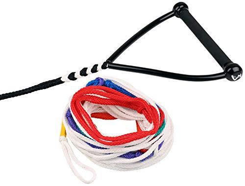 MESLE Wasserski-Leine Pro Slalom 75\' 8-Loop, Slalom-Leine, Länge 10,75 m - 23 m, 8 Sektionen, 12\'\' Gummi-Hantel, mit Rope Keeper