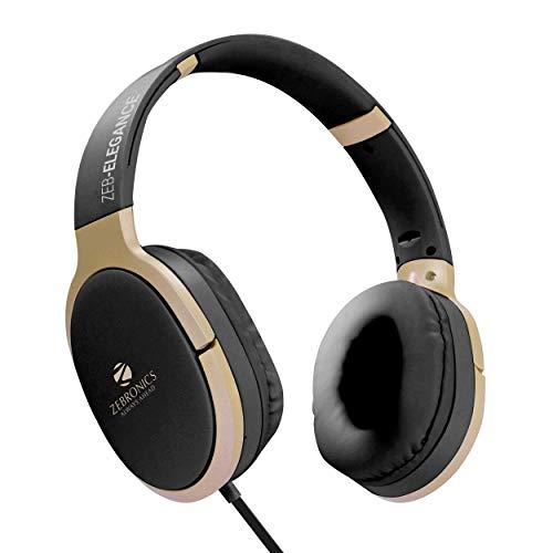 Zebronics Zeb-Elegance 3.5mm Jack Headphone with Adjustable Headband (Black)