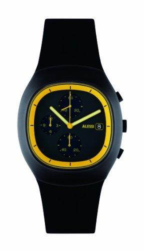 Alessi - 372AL21011 - Montre Homme - Quartz - Chronographe - Bracelet Caoutchouc Noir