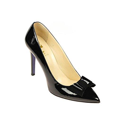Gardenia Damen Pumps Leder Schwarz Lack , Schuhgröße:40