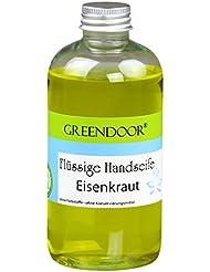 Greendoor BIO Savon liquide VERVEINE - citronnée frais, Recharge, végétalien, sans Huile de palme, Parabène, Fait-mains...