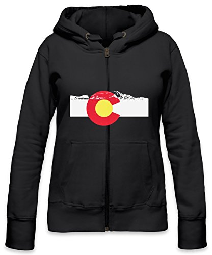 Rocky Mountains Womens Zipper Hoodie Large