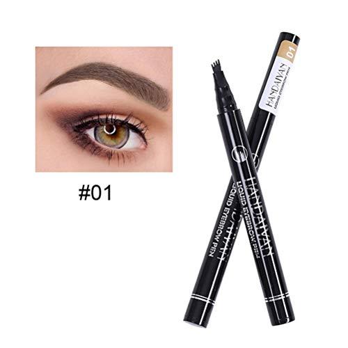 EisEyen Augenbrauenstift Langlebig Wasserdicht Gabel Augenbrauenstift mit Langanhaltendes wasserdichtes Brow für Augen Make-up -