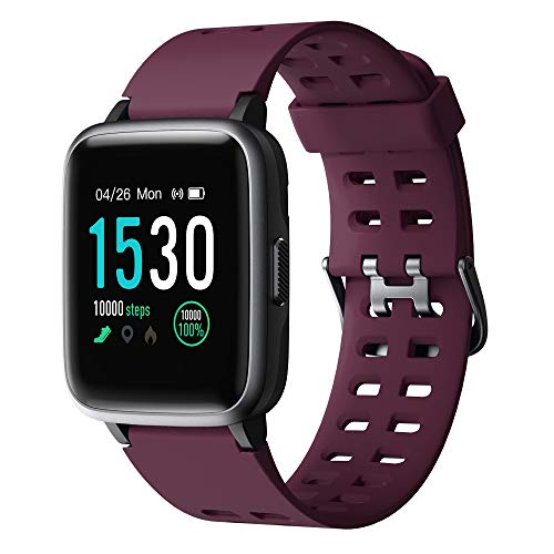 Willful Smartwatch,Fitness Armbanduhr mit Pulsuhr Touchscreen Fitness Uhr IP68 Wasserdicht Fitness Tracker Sportuhr mit Schrittzähler Stoppuhr Smart Watch für Damen Herren für iOS Android Handy