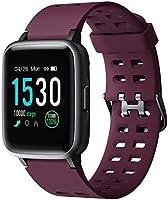 YAMAY Smartwatch, Impermeable Reloj Inteligente con Cronómetro, Pulsera Actividad Inteligente para Deporte, Reloj de...