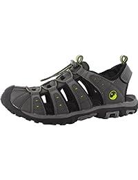 Hi-Tec Hombres de calzado de la orilla cerrado en los dedos deportes aventura Walking Toggle Sandal, negro, 9