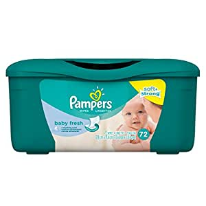 Pampers Baby Wipes Tub Fresh Baby Fresh 72 Count Amazon