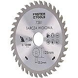 Lama per sega circolare 125 mm per legno 125 x 22,2 con 36 denti lama TCT sega circolare disco di taglio
