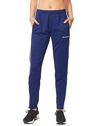 Baleaf Women's Athletic Performance Soccer Training Pants Blue Size M