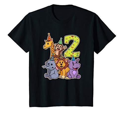 Kinder 2. Geburtstag Jungen & Mädchen Zoo Tiere Party T-Shirt -
