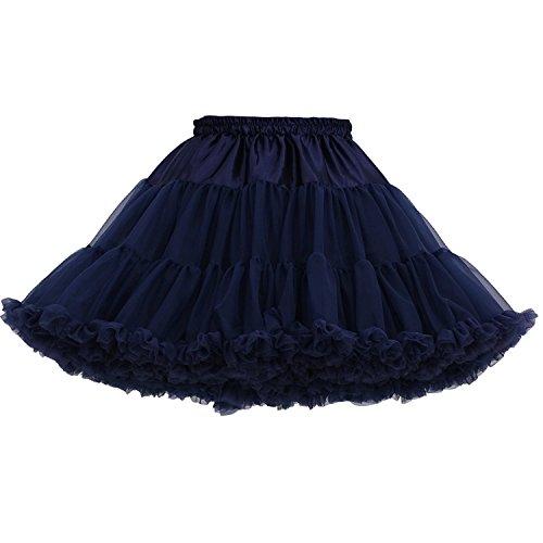 Tüll Tanz Rock Kostüm - FOLOBE Erwachsene luxuriöse weiche Chiffon Petticoat Tüll Tutu Rock Damen Tutu Kostüm Petticoat Ballett Tanz Rock