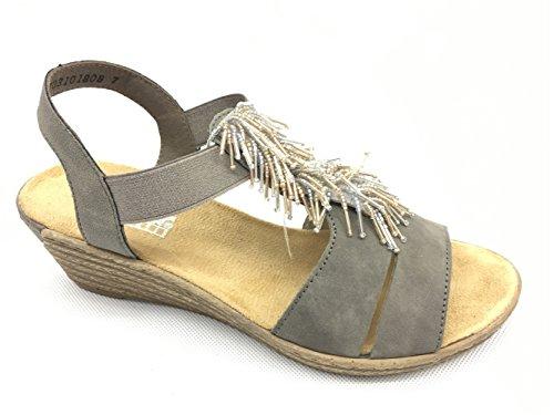 Rieker  62475-45, Sandales pour femme granit/staub