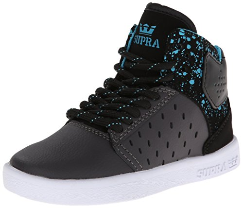 Supra ATOM Unisex-Kinder Hohe Sneakers Grey/Black-White