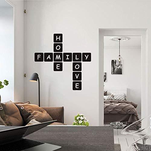 WSLIUXU Moderne Familie Liebe Vinyl Wandaufkleber Für Haus Dekoration Applique Wand Wohnzimmer Dekoration Tapete Gold XL90cmX90cm