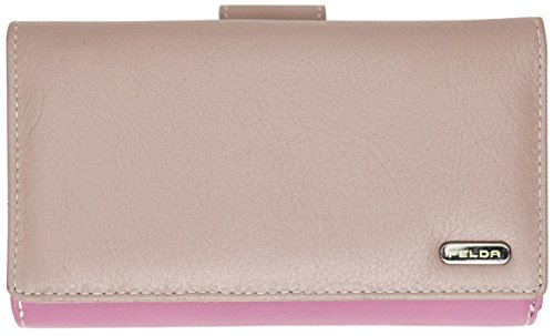 RFID Purse Genuine Leather Ladies Soft Wallet Womens Multi Colour 19 Card Slot (Oyster Multi)