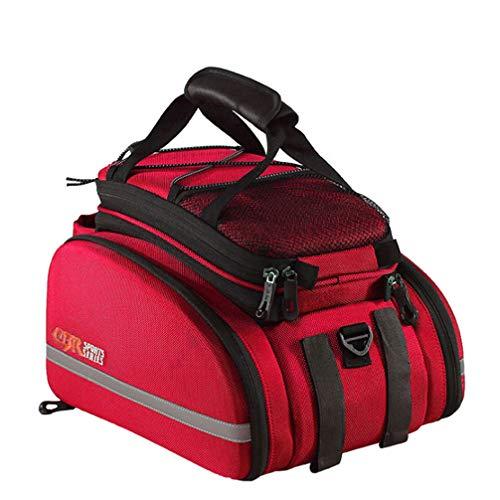KUANDAR Wasserdicht Fahrradtaschen Gepäckträger, Tasche Rennrad Rack Carrier, Wasserdicht, Multifunktionale, Schultertaschen Reflektierender, Mit Integriertem Schultergurt Handytasche, B